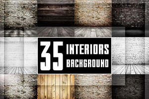 Bundle of 35 vintage interiors
