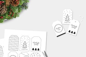 CHRISTMAS TAGS + 3 christmas paterns