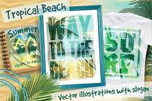 Tropical beach.Vector illustrations.