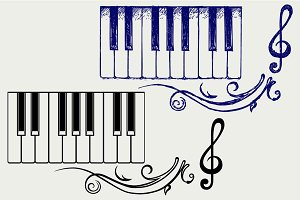 Piano keys SVG