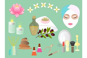 Set Accessories for beauty salon