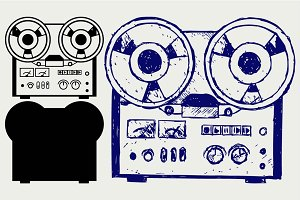 Old tape recorder SVG