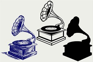 Record player SVG