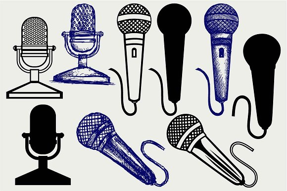 Microphone SVG DXF