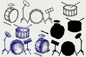 Drum set SVG