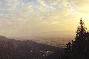 Mountains Panorama at Sunset