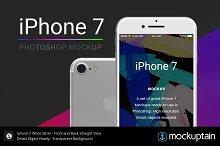 Iphone 7 Mockup Straight White