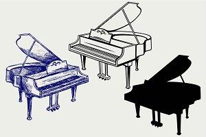 Grand piano SVG