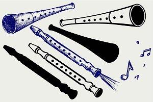Wooden Flute SVG