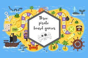 Pirate board game - Arrr!!!