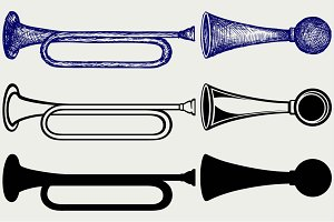 Trumpet and air horn SVG