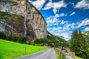 Wonderful Lauterbrunnen town