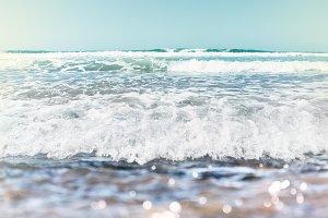 Ocean Waves Seascape with Bokeh