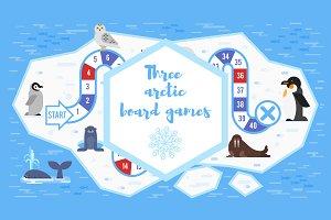 Three arctic board games
