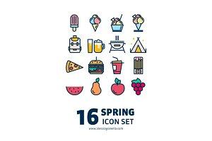16 Spring Icon set