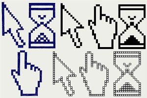 Pixel cursors SVG