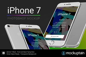 Iphone 7 Mockup Flying White