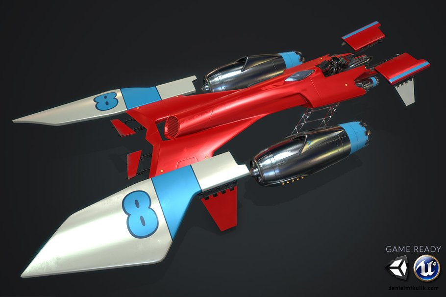 31ba168a4afb02 Ms Racer Low Poly PBR ~ Vehicle Models ~ Creative Market