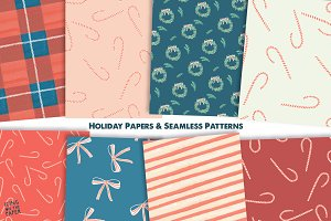 Holiday Papers and Seamless Patterns