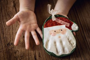 Christmas handprint keepsake