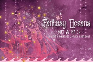 Pink Fantasy Oceans