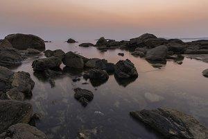 Coast at dusk.