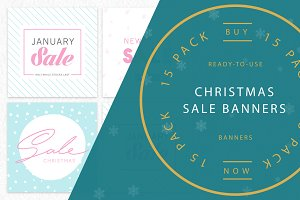 CHRISTMAS / NEW YEARS Sales Banners