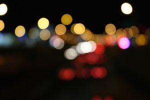 Abstract Street Lights Bokeh