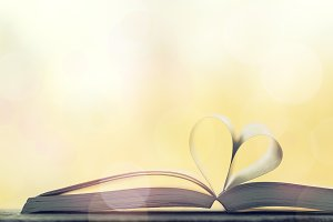 Love, reading or valentine's concept