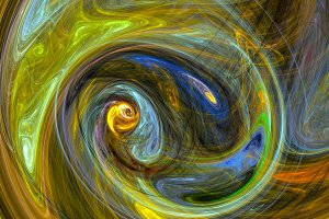Colorful whirlpool abstract background