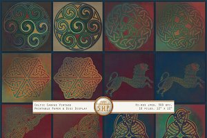 Celtic Knots & Beasts Folk Art Pack
