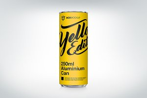 250ml Aluminium Can Mockup