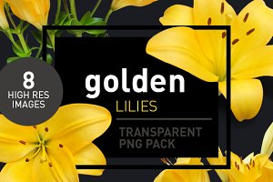 Yellow Lilies - Transparent Pngs