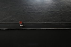black wall and electrical cables