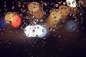drops of rain on window