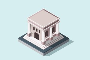 Isometric Illustration - Museum