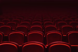 red cinema auditorium chairs