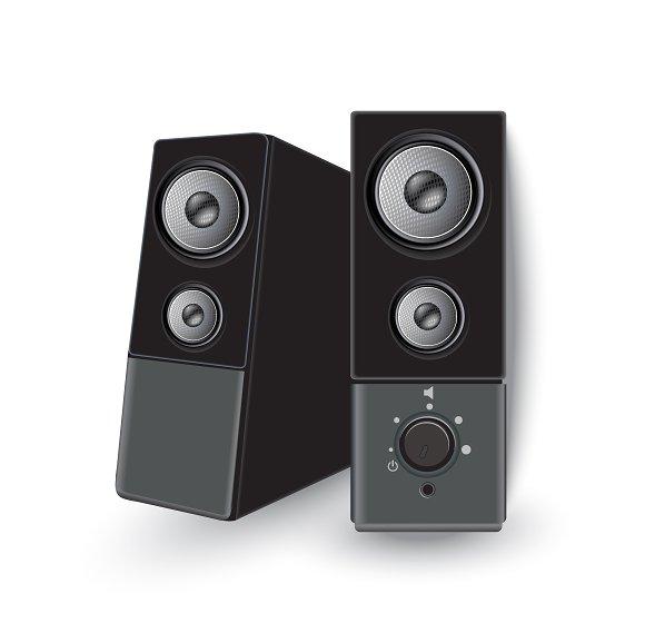 Vector, audio, speakers