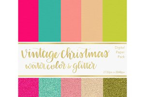 Digital Paper - Vintage Christmas