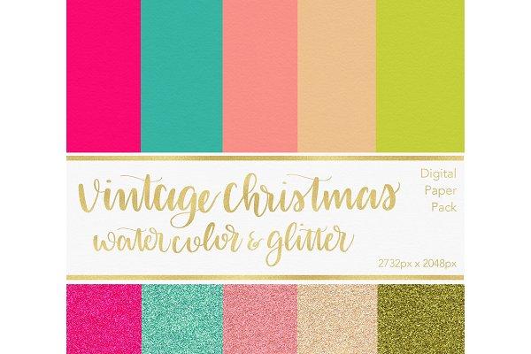 Digital Paper - Vintage Christmas