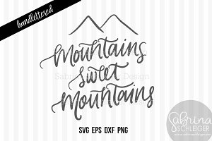 Mountains Sweet Mountains- cut file