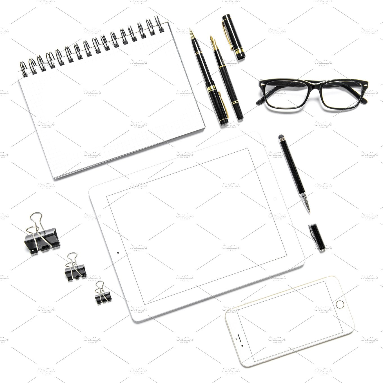 Office Desk Minimal Flat Lay JPG