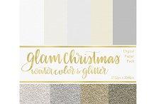 Digital Paper - Glam Christmas