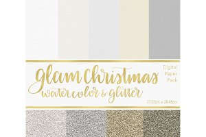 Digital Paper - Glam Christmas