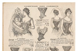 Antique fashion shop advertising