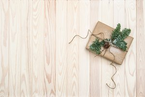 Christmas decoration wrapped gift