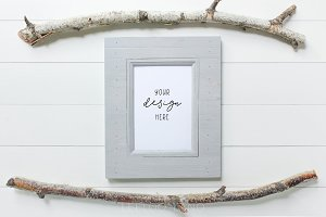 Styled Photo - Twig & Frame Mockup