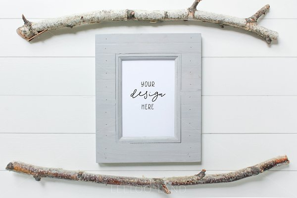 Styled Photo - Twig & Frame Mockup