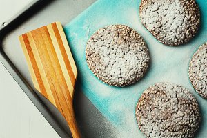 Homemade Cookies with Sesame