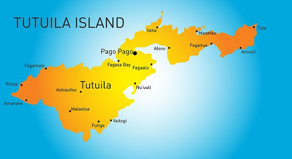 Vector color map of Tutuila